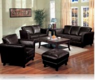 Brady Leather Sofa + Love Seat