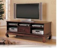 Breckland  black glass tv stand