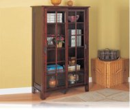 Cappuccino 2 Door Bookcase