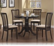 Cappuccino Finish Round Table 5 Pc Set