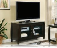 Cappuccino  black glass tv stand