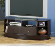 Cappuccino  tv stand glass