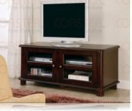 Carlisle  black glass tv stand