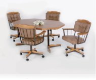 Casual Natural Oak Round 5 Pc Home Office Set