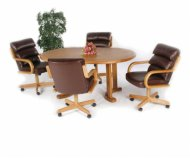 Casual Oval 5 Pc Home Office Set