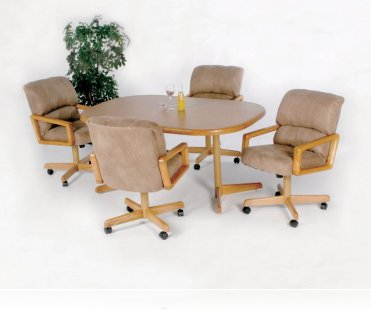 Casual Round 5 Pc Home Office Set