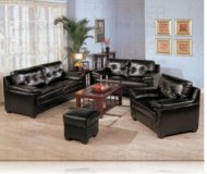 Century Drive Leather Sofa + Love Seat