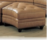 Charleston Leather Storage Ottoman