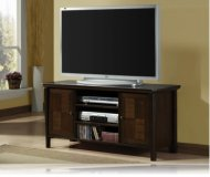 Checkered  black corner tv stand