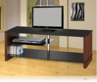 Cherry  black glass tv stand