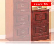 Cherry Finish File Cabinet W/ 2 Locking Drawers