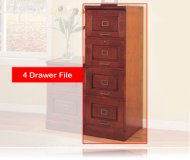 Cherry Finish File Cabinet W/ 4 Locking Drawers