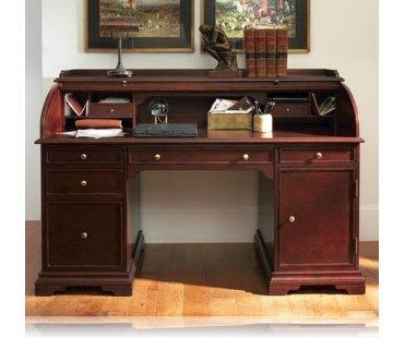 Cherry Wood Roll Top Desk