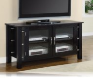Contemporary  black glass tv stand