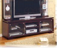 Contemporary  tv stand cherry