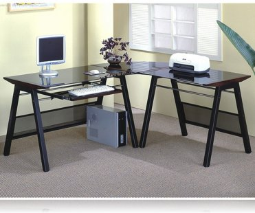Contemporary L-Shaped Home Office Desk