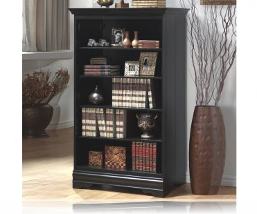 Contemporary Style Black Storage & Display Bookcase