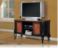 Cotswold  black glass tv stand