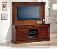 Craven  black corner tv stand