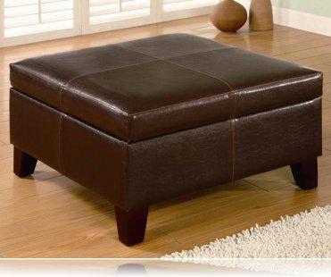 Dark Brown Ottoman