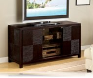 Deep  black glass tv stand