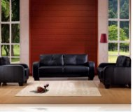Dolan Leather Sofa + Love Seat