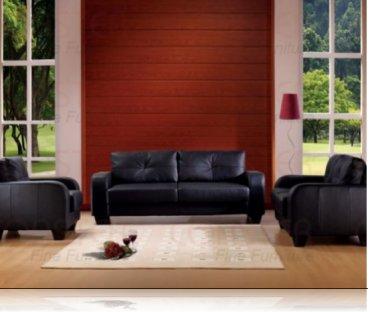 Dolan Leather Sofa + Love Seat