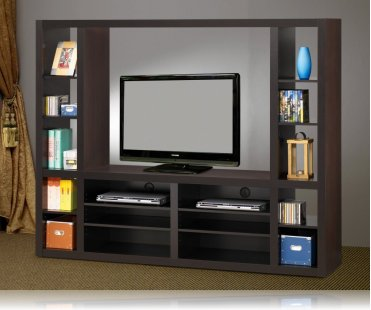 Entertainment Center in Cappuccino