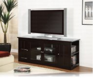 Espresso  black glass tv stand