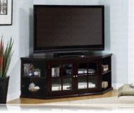 Essex  black glass tv stand