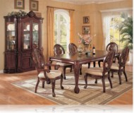 Fenland 7 Pc. Cherry Dining Set + China