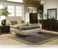 Furture KE 5 Pc. King Platform Bedroom Set
