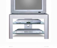 Grey  tv stand glass