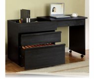 Hide Away Black Computer Desk