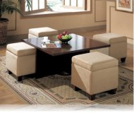 Hines Coffee Table and 4 storage cubes