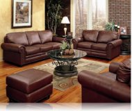 Hudson Bay 2 Pc. Leather Sofa + Love Seat