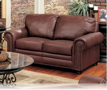 Hudson Bay Leather Love Seat