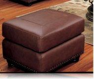 Hudson Bay Leather Ottoman