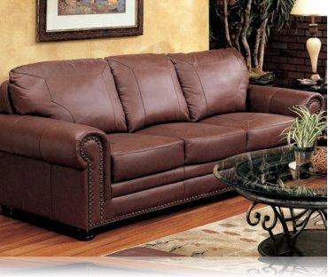 Hudson Bay Leather Sofa