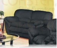 Ivana Leather Love Seat