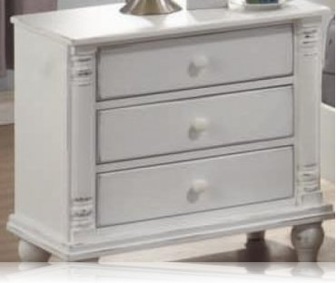 Kayla White Bedroom Night Stand