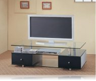 Kennet  black corner tv stand