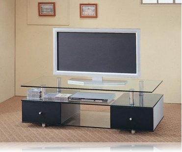Kennet Tempered Glass Tv Stand Plasma Tv Stands Coaster 720081