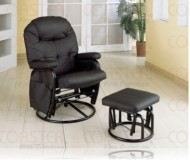 Leeds Black Recliner