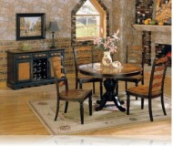 Longoria 5 Pc. Dining Set w/Round Table + Buffet