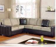 Loren Leather Left Sectional Sofa