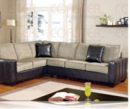 Loren Leather Right Sectional Sofa