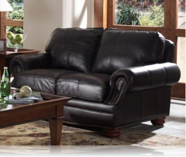 Manchester Leather Love Seat