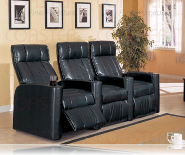 Matlnee Vinyl 3 Home Theater Recliner