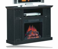 Media Electric Fireplace in Black Ash